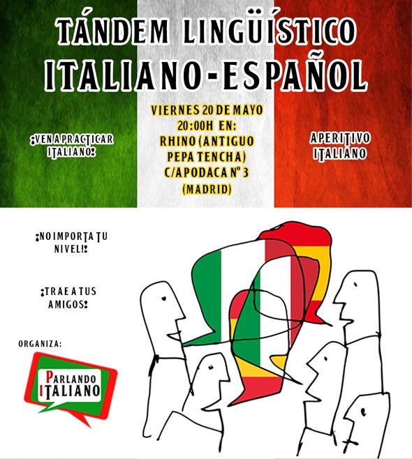 tandem lingüístico italiano español en Madrid