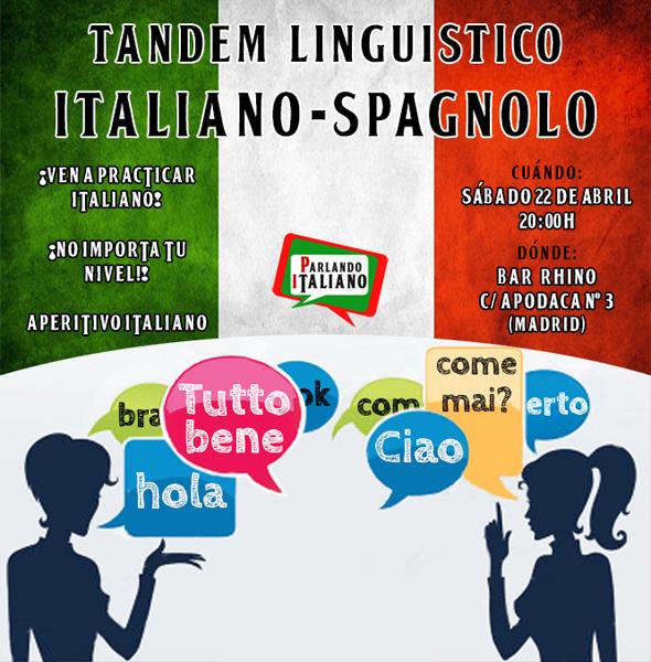 Tándem lingüístico para practicar italiano en Madrid