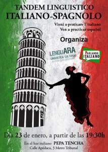 tándem lingüístico italiano-español