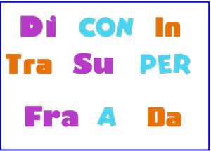 lista preposiciones italianas