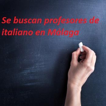 Empleo profesores de italiano Málaga