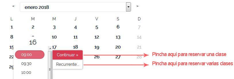 clases calendario
