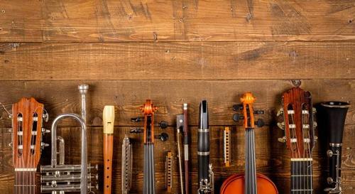 Instrumentos musicales en italiano