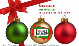tarjeta regalo clases italiano
