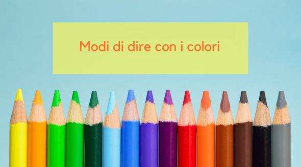 expresiones idiomáticas en italiano con colores