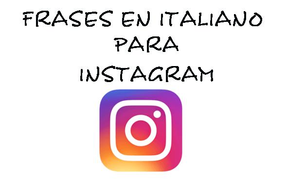 frases en italiano para Instagram