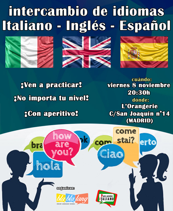 intercambio de idiomas en Madrid