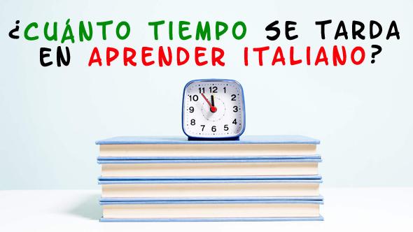 cuánto tiempo se tarda en aprender italiano