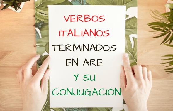 Verbos italianos terminados en are